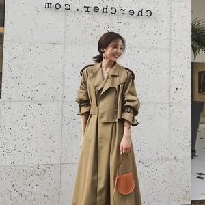 カッコ良い ロングコート ジャケット 韓国ファッション アウター RPTOP092402