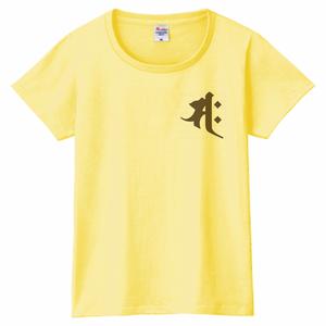 元気な女性に贈る梵字干支Tシャツ ライトイエロー