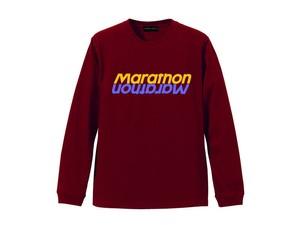 LONG SLEEVE T-SHIRT M319203-BURGANDY / ロンT バーガンディー BURGANDY  / MARATHON JACKSON マラソン ジャクソン