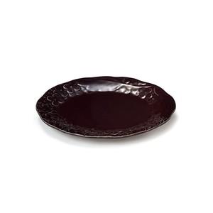 「リアン Lien」プレート 皿 長幅18cm S パープル 美濃焼 267838