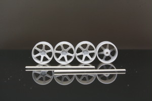 8.5mm Volk Racing TE37 Ultra Track Edition II タイプ 3Dプリント ホイール 1/64 未塗装