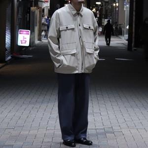 """ Revo ""  Faux  Leather  Jacket   フェイクレザージャケット アイボリー 新品 A572"