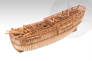 シップモデル奥本 帆船構造模型キット エンデバー号 1/80