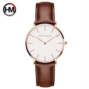 女性の時計クリエイティブトップブランド日本クォーツムーブメント時計ファッションシンプルな因果レザーストラップ女性の防水腕時計CB36-FK