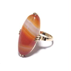 Vintage Japanese Ring - K18 Sardonyx Color #12