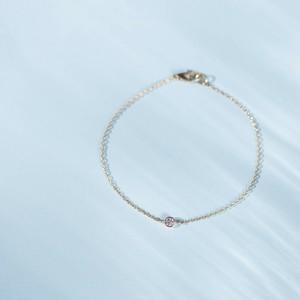 Pleine Lune -Bracelet-◇K18YG×Diamond 0.06ct