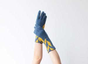 % PERCENT 手袋(COMFORTABLE:ブルー・イエロー)裏起毛・スマホ対応・ギフト箱付き(男女兼用)