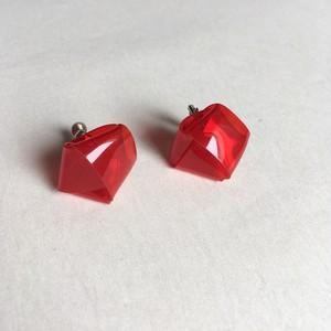 knot earrings -red-(イヤリング)