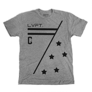 LIVE FIT Alliance Tee- Dark Heather Grey