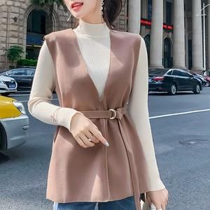 【tops】大人の女性を目指すベスト+セーター2点セット25774236