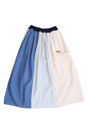 ギャザースカート【ブルー】