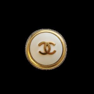 【VINTAGE CHANEL BUTTON】ゴールドココマーク オフホワイト 24mm
