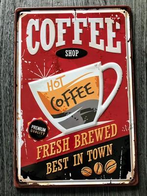 アンティーク風メタルプレート(coffee)