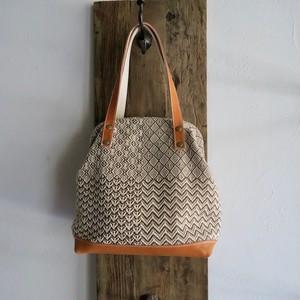 手織りガマ口トートバッグ