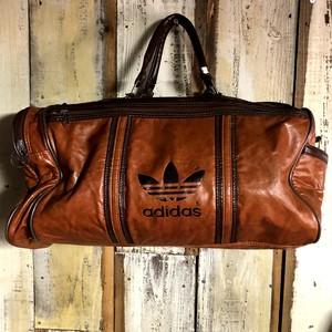 80's adidas All Leather Vintage Bag アディダス ビンテージ オールレザー ボストンバッグ made in TAIWAN