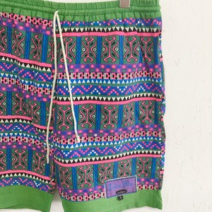 Extra Blu : african pattern print cotton swim shorts (used)