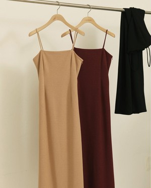TODAYFUL トゥデイフル Pencil Camisole Dress ワイン  12010326