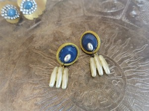 vintage pierced earrings <PE-blpl>