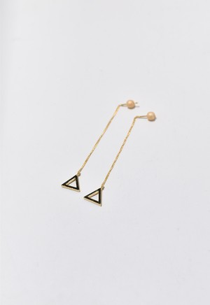 triangle frame pierce Gold/Apricot