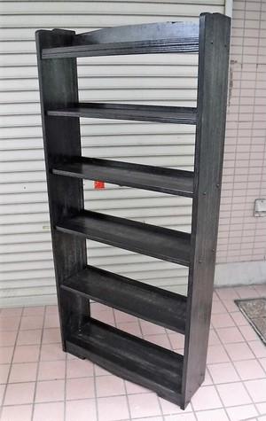 木製の本棚【6段/黒】(0320101YD)