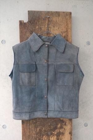 BAD LEATHER vest.