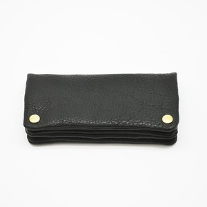 Yezo deer soft wallet tanned black