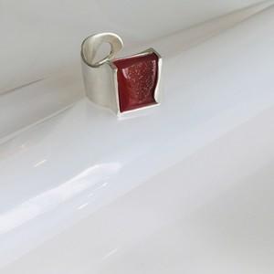 一点モノ とっておきの特別な赤い宝物の指飾り