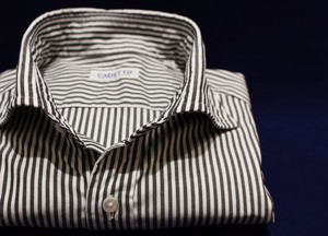 CADETTO ORIGINALS SHIRTS  Pin-point Oxford Stripe Black ink