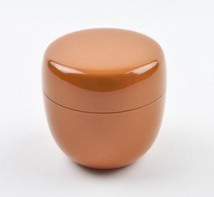 【茶道具/棗】おしゃれ かわいい カラー棗(オレンジ)