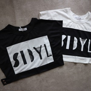 short Tee/white&black