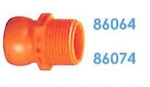 """86074 汎用クーラントホース3/4"""" 3/4"""" PTコネクター"""