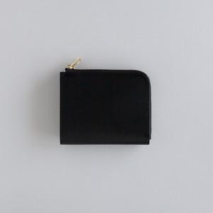 【受注製作】革の財布S ブラック