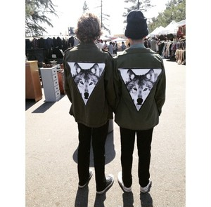 "VINTAGE REDEUX ""ARMY FATIGUE SPIRIT ANIMAL JACKET(WOLF)"""