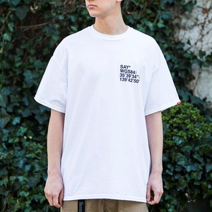 "SAY! / セイ!| 【 SALE!! 25%OFF 】 S/S TEE "" WGS84 "" - White"