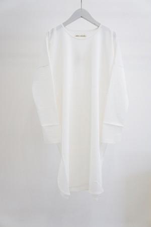 Hi Slit Long Sleeve Jersey Shirt -WHITE- / KENJI HIKINO