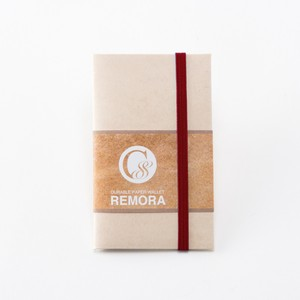 """Durable Paper Wallet """"REMORA"""" / Ivory&Red"""