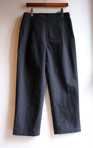 THE HINOKI コットンウール馬布のイージーパンツ BLACK #18W-25