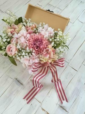ウエルカムトランク フラワー単品 【ピンク系お任せアレンジ】