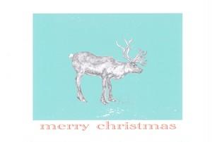 merry christmas トナカイ ポストカード No.0077