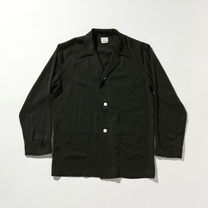 【FILL THE BILL】《MENS》RAYON TWILL SHIRT JACKET - BLACK