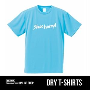 SHOEHURRY! ドライTシャツ(サックス×ホワイト)