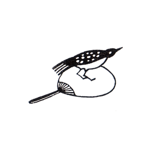 団扇鳥 / 立ち Bird on a fan / standing