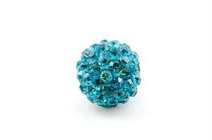 ラインストーンパヴェボール 1個 10mm ターコイズブルー pve-turquoiseblue10