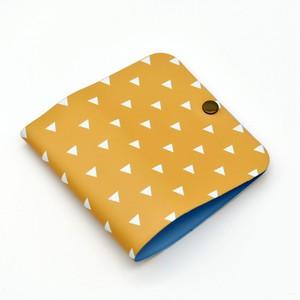 【通常サイズ】フルカラー印刷マスクケース・イエロートライアングル【送料込】【ストラップありなし選択可】Product ID:101-T011