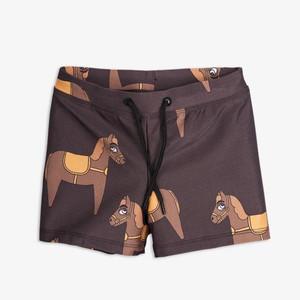 ミニロディーニ(minirodini) - HORSE  SWIMSHORTS 【BROWN】水着