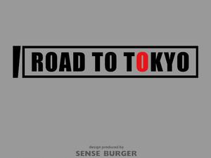 ROAD TO TOKYO 東京への道のり 車に貼れる 日本応援 Road to Tokyo 2021 黒 ブラック【sti07911blk】