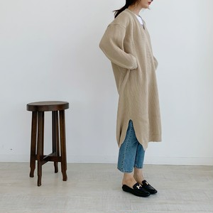 【50%OFF SALE】volume knit onepiece / beige (即納)