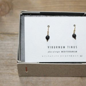 BOTANICAL JEWELRY/ボタニカルジュエリー VIBURNUM TINUS HOOK  EARRINGS / VTB1_150GF (BLACK)