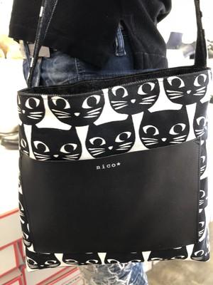 黒猫リバーシブルトートバッグ