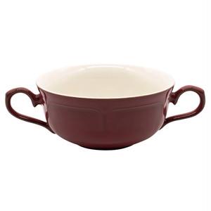 Koyo ラフィネ 両手 スープカップ 約17×12cm ヴィンテージレッド 15944054